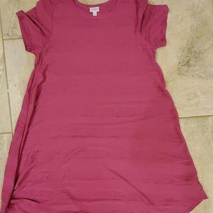 Vivid pink textured Carly